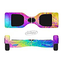 The Neon Color Fushion V2 Full-Body Wrap Skin Kit for the iiRov HoverBoards and other Scooter (HOVERBOARD NOT INCLUDED)