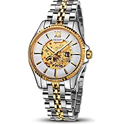 Gosasa New Business Men Watch,skeleton Gold Automatic Wristwatches Waterproof Commerce,birthday Gift