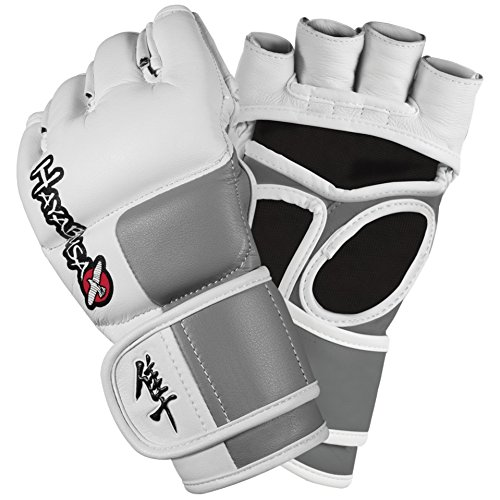 Hayabusa Tokushu 4oz MMA Gloves, White/Slate Grey, X-Large