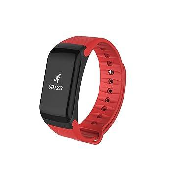 WMWMY Tensiómetro Inteligente para la Mujer Hombre de Monitor de Ritmo Cardíaco Reloj Inteligente Android iOS,Rojo: Amazon.es: Electrónica