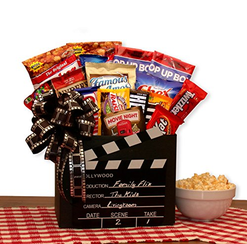 Family Flix Movie Night Gift Box with Red Box Gift Card ()