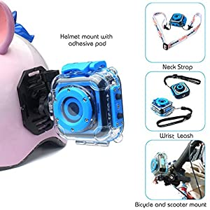 Best Digital Kids Camera For Girls Boys,HD Video Action Camera Toy For Children Holiday Birthday camcorder,with Games Bag Hand Leash Head Strap Funny Sticker,30m Waterproof Prismtec.