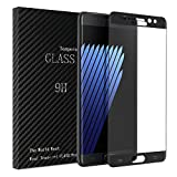 Dmg Premium Curved Full Screen Protector For Samsung Galaxy Note 7(2016) With [Crystal Clear] [9H Hardness] [Anti-Scratch] - Black