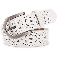 lalafancy Cinturón de las mujeres de cuero genuino del zurriago de la vendimia Moda diseño floral hueco Cinturón de las…