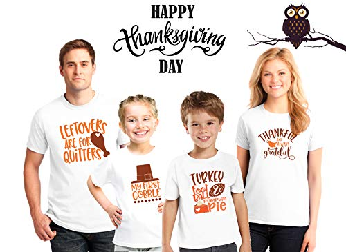 Thanksgiving family shirts,My First Gobble, Turkey football and pumpkin pie, Talk turkey to me, 9 Thanksgiving designs,Matching Thanksgiving Outfits,Thanksgiving Gift