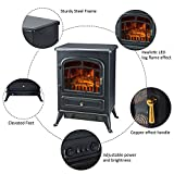 1500W Electric Fireplace Freestanding Fire Flame Heater Stove