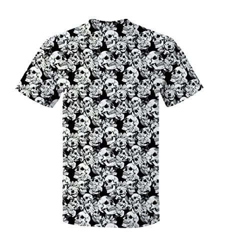 Gorilla Man Cage Costume - Halloween Costume Skulls All-Over Print Sublimation T-Shirt - X-Large (White)