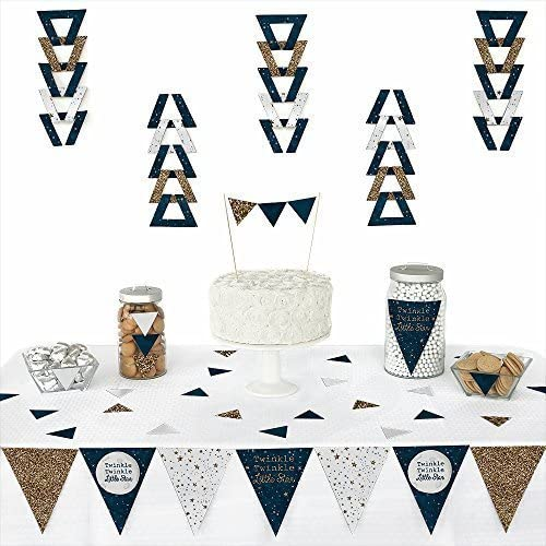 Twinkle Twinkle Little Star - Triangle Baby Shower or Birthday Party Decoration Kit - 72 Pieces [並行輸入品]