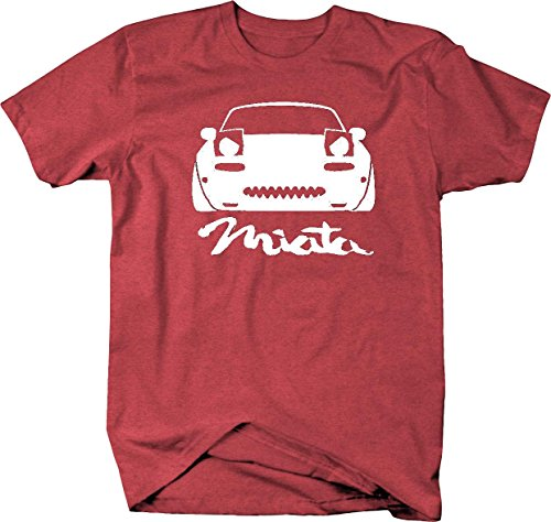 Miata Racing - Miata Angry Eyes Lowered Racing Speed JDM Mazda Mens T Shirt - Large