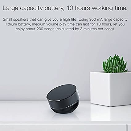 Black Bluetooth Speaker,QCY Mini Portable Speaker with Bluetooth//USB//TF Card Mode with Call Answer End Function Loudspeaker 10M Stereo Sound Subwoofer Glossy Aluminium Alloy Wireless Speaker