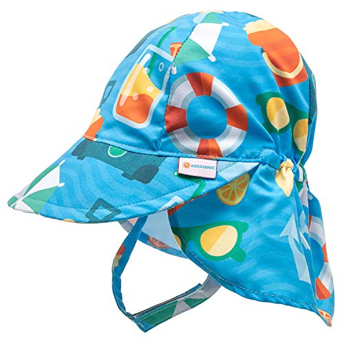 Nozone Better Baby Flap Sun Hat in Arthur Seaside Fun Print, 9-18 Months