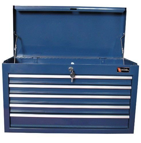 Excel TB2105X Blue 26 Inch Steel Top Chest Rolling Trolley Stacking Box Cabinet (item_by#map-discounts ,ket158121868100062