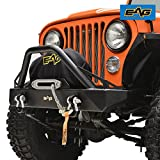 #9: EAG Stubby Front Bumper With D-Rings for 76-86 Jeep Wrangler CJ