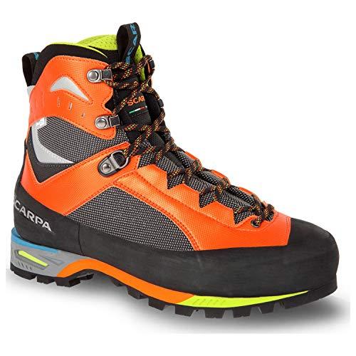 SCARPA Men's CHARMOZ Mountaineering Boot, Shark/Orange, 11
