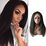 Cheap Fanshow Hair 360 Lace Frontal Wig 180% Density Pre-Plucked Hairline 360 Lace Wig Brazilian Human Hair Italian Yaki Lace Wig (14″)