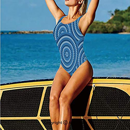 Homenon Swimwear Low Back,Aboriginal Ethnic Indigenous Australia,Women's Swimsuits