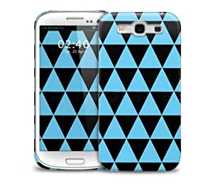 Blue triangles Samsung Galaxy S3 GS3 protective phone case