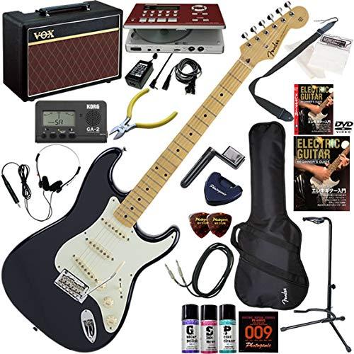 FENDER エレキギター 初心者 入門 日本製 定番モデルのルックスにモダンなスペックが調和したストラト。 ギターの練習が楽しくなるCDトレーナー(エフェクターも内蔵)と人気のギターアンプVOX Pathfinder10が入った強力21点セット Made in Japan Hybrid 50s Stratocaster/MNB(ミッドナイトブルー)  MNB(ミッドナイトブルー) B07QPJXHK4
