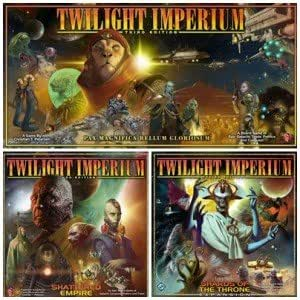 Twilight Imperium Third Edition Board Game Bundle (includes Twilight Imperium Main Game, Shattered Empire & Shards of the Throne expansions)