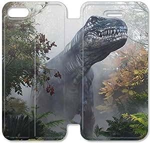 Parque Jurásico O7Q43Q9 iPhone 4. 6 6S del caso del tirón del cuero funda J6F08O8 cuero del teléfono funda personalizada duradero
