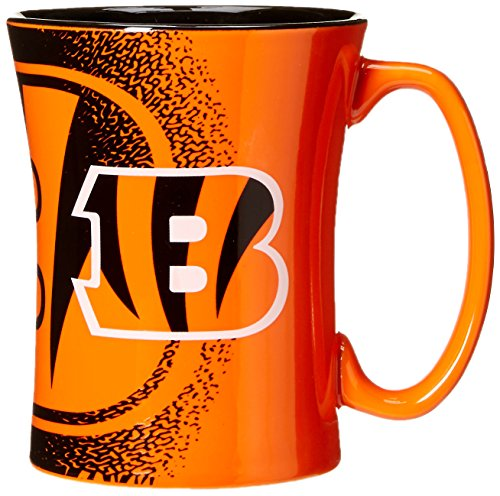 NFL Cincinnati Bengals Mocha Mug, 14-ounce, Orange