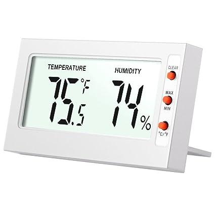 ZHAS Humedad Temperatura Digital LCD, Mini Termómetro Digital,Hogar Mostrar Higrómetro Digital