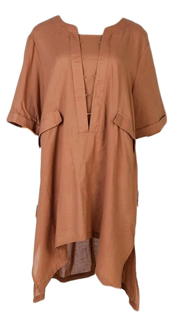 93d80a38646 Linen+Cotton+Polyester It is a baggy fit and very flattering at the back as  it covers your bum. Fashion style top super comfy, affordable, and cute