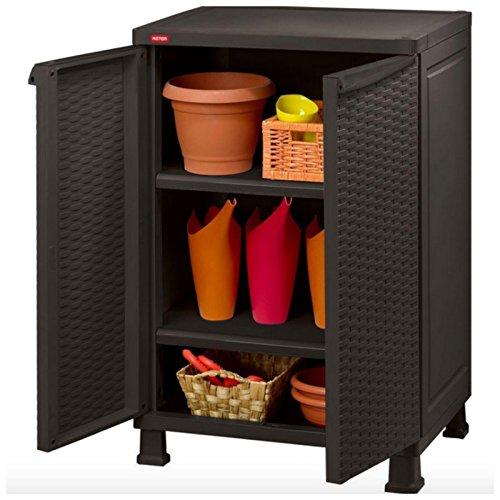 Indoor Outdoor Patio Deck Garage Storage Cabinet Organizer (Outdoor Vertical Storage Cabinet)