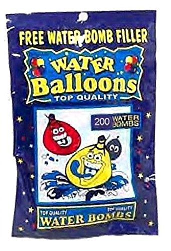 Water Bombs 2000 Party Balloons (10 Pks Of 200) and Free Water Fillers by Kole