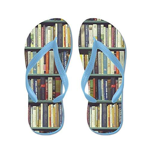 """Bookshelf Flip Flops"" by CafePress"