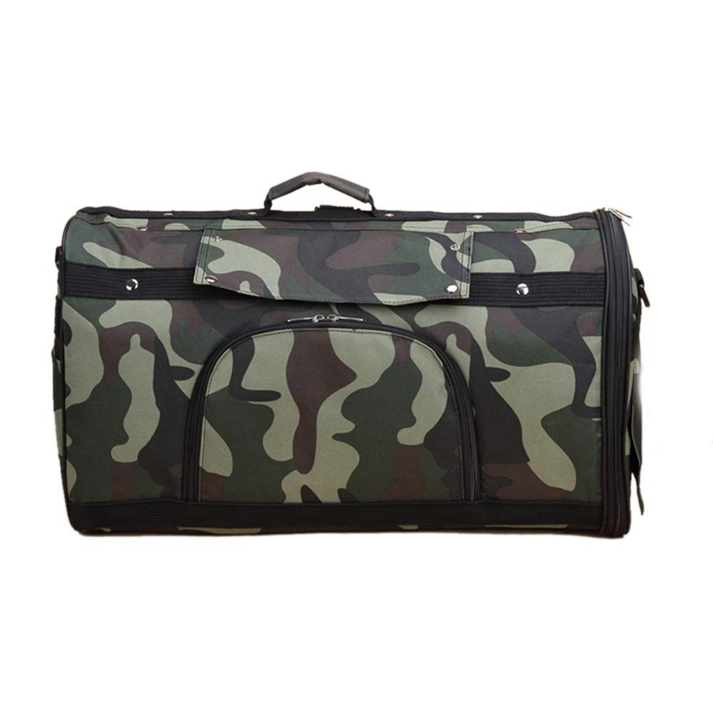 Camouflage green L Camouflage green L HYUE Multi-Functional Pet Bag Dog Travel Out Multi-Purpose Bag Stroke Handcuffs Pet Bag (color   Camouflage Green, Size   L)
