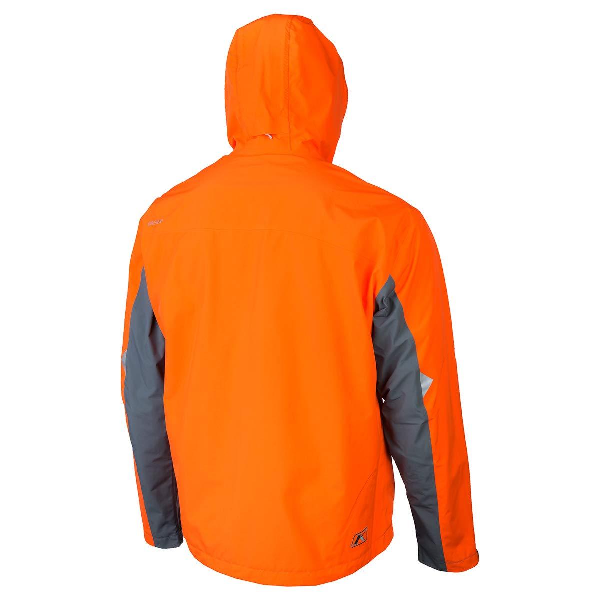 Large KLIM Stow Away Mens Ski Snowmobile Jacket Black//Gray
