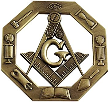 All Seeing Eye Working Tools Antique Brass Auto Emblem Lapel Pin Masonic Combo Pack