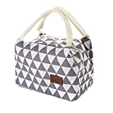 Lunch Bag Cooler Bag Women Tote Bag Insulated Lunch Box Thermal Soft Leak Proof Liner Lunch Bags for Picnic Boating Beach Fishing Work (Gray, 21x14x15cm)