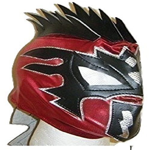 WRESTLING MASKS UK Red Kalisto - The Lucha Dragons Deluxe Childrens Zip Up Mask ()