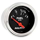 Auto Meter 2515 Traditional Chrome Electric Fuel Level Gauge