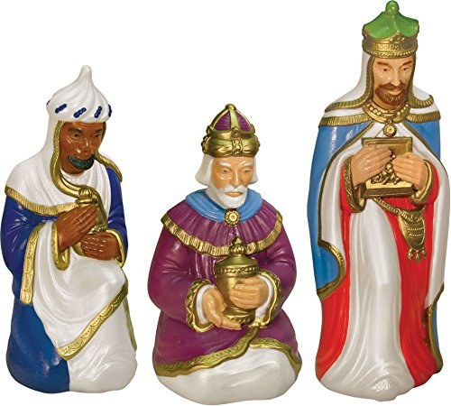 General Foam Nativity Scene Three Wiseman Set with Light