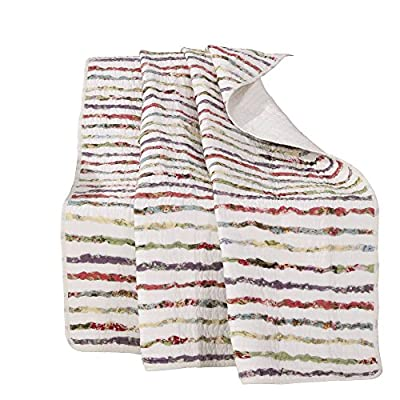Greenland Home Bella Ruffle Throw - 100-Percent cotton Prewashed and preshrunk Machine washable - blankets-throws, bedroom-sheets-comforters, bedroom - 51MUq9fc6kL. SS400  -