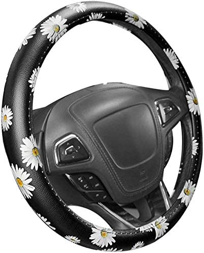 SODIAL Car Daisy Sunflower utomotive Steering Wheel Cover nti Slip Universal Car Handle Steering Covers Lady Fashion for Universal 15