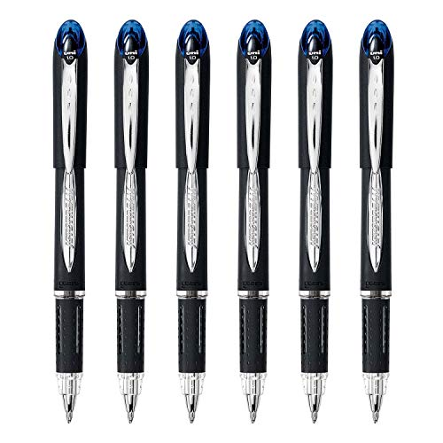 Uni-Ball Jetstream Rollerball Pen, 1.0mm, Bold Point, 6-Count (Blue, Bold)