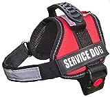 german shepherd service dog vest - ALBCORP Reflective Service Dog Vest/Harness, Woven Polyester & Nylon,Comfy Soft Padding, XXS, RED