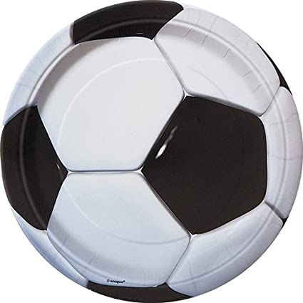 Soccer Party Paper Plates, 8ct