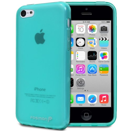 iPhone 5c Case, Fosmon DURA-FROS Slim Flexible Gel Back Cover for Apple iPhone 5C (Teal)