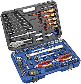 Alyco 101460 - Juego de 98 herramientas aisladas combinadas en estuche plastico especial para electricistas: Amazon.es: Bricolaje y herramientas