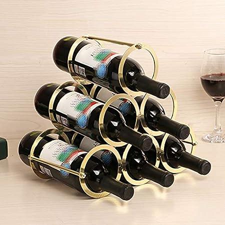 Práctico Estante Para Botellas De Vino Vinoteca De Pie Botelleros Para Vino Y Otras Bebidas Para Guardar Hasta 6 Unidades