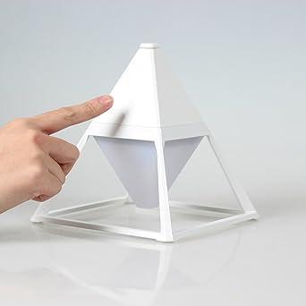 Luz de noche,Usb recargable touch sensor lámpara pirámide creativa ...
