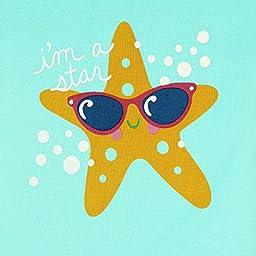 Girl\'s Starfish Pajamas Set for Toddler 100% Cotton Sleepwear Kids Pjs Tiffany Green 4T