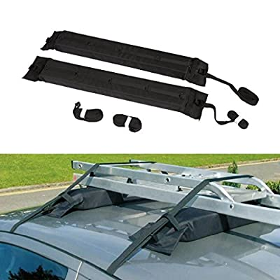 ALAVENTE Universal Auto Soft Car Roof Rack Outdoor Rooftop Luggage Carrier Load 60kg Baggage