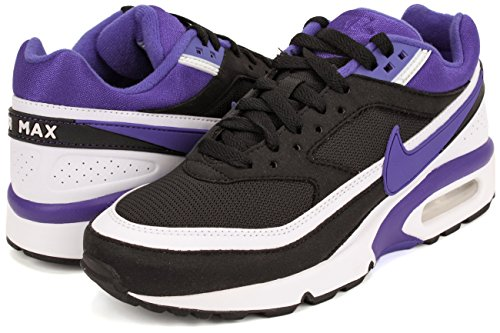 Nike Wmns Air Max Bw, Zapatillas de Deporte para Mujer Negro (Black / Persian Violet-White)