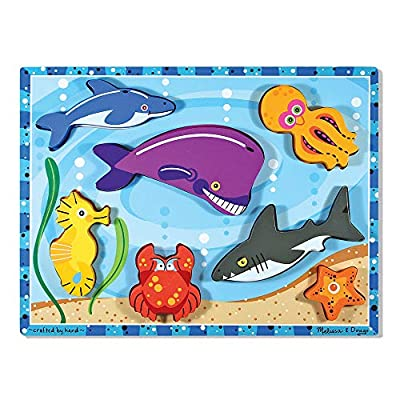 Melissa & Doug Sea Creatures Chunky Puzzle: Melissa & Doug: Toys & Games
